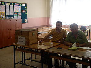 Turkish general election, 2007 - Votes were cast in ballot boxes such as this one