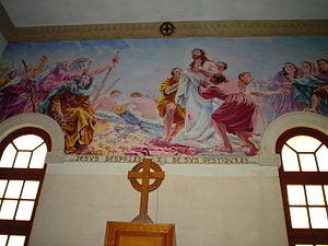 Iglesia de Jesús de Miramar - Mural in church.