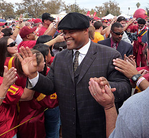"Ken Norton Jr. - Norton at USC's pregame ""Trojan Walk"" in 2008"