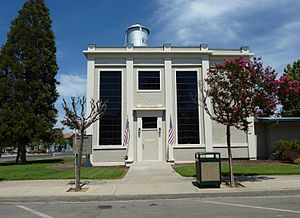Exeter, California - The Exeter Historical Museum is housed in the old Mt. Whitney Power Company Substation, formerly the headquarters of the Exeter Police Department.