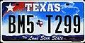 2009 Texas license plate BM5 T299.jpg