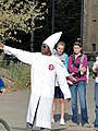 2010-11-01 Only in Wyoming? Man in KKK Ku Klux Klan gear.jpg