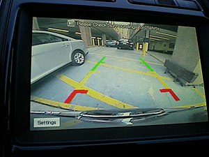 Rear View Camera of the Ford Taurus 2010.