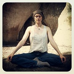 Image of woman meditating