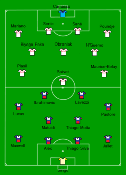 2013 French Supercup - Paris SG vs Girondins de Bordeaux Line-up.png