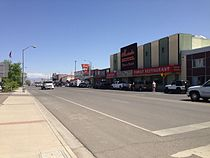 2014-05-31 15 06 46 View east along Nevada State Route 304 at Nevada State Route 305 in Battle Mountain, Nevada.JPG