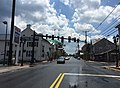 2016-07-19 13 49 12 View south along U.S. Route 11 and west along U.S. Route 211 (Congress Street) at Old Cross Road in New Market, Shenandoah County, Virginia.jpg