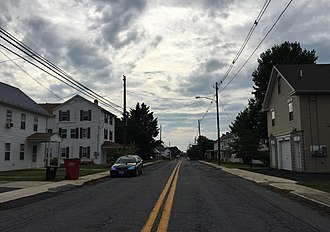 Chewsville, Maryland - Image: 2016 07 28 16 43 40 View west along Maryland State Route 804 (Twin Springs Drive) between Waltz Road and White Hall Road in Chewsville, Washington County, Maryland