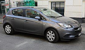 2016 Opel Corsa EcoFlex 5-door (CH), front right.jpg