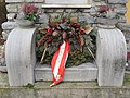 2018-02-22 (208) Memorial wreath at war memorial Gedersdorf, Austria.jpg