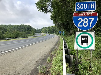 Boonton, New Jersey - I-287 southbound in Boonton