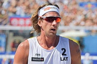 Aleksandrs Samoilovs Latvian beach volleyball player