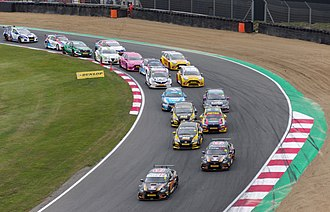 2018 British Touring Car Championship - Start of a race at Brands Hatch.