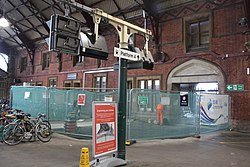 2018 at Bristol Temple Meads - ticket gate construction (2).JPG