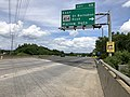 2019-05-27 14 18 57 View north along the outer loop of the Capital Beltway (Interstate 95 and Interstate 495) at Exit 4B (Maryland State Route 414 East-St. Barnabas Road, Marlow Heights) along the edge of Temple Hills and Marlow Heights in Maryland.jpg