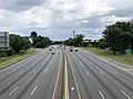 2019-07-11 12 51 18 View east along Interstate 495 (Capital Beltway) from the overpass for U.S. Route 29 (Colesville Road) along the edge of Silver Spring and Four Corners in Montgomery County, Maryland.jpg
