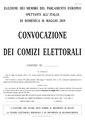 2019 European Parliament election in Italy calling notice (facsimile).pdf