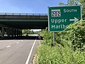 2020-08-18 11 22 03 View west along Maryland State Route 704 (Martin Luther King Junior Highway) at the exit for Maryland State Route 202 SOUTH (Upper Marlboro) in Landover, Prince George's County, Maryland.jpg