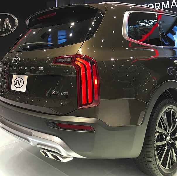 2020 Kia Telluride: File:2020 Kia Telluride, Cleveland Auto Show (Rear).jpg