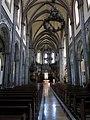 241 Església nova de Santo Tomás de Canterbury (Sabugo, Avilés), interior de la nau central.jpg