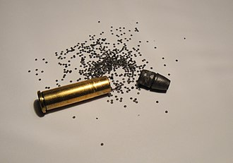 .32-20 Winchester - disassembled .32-20 Winchester cartridge with 100 grain lead bullet