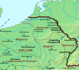 Germania Secunda/Germania II rond 400 n.Chr.