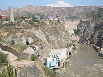 Water resources of China - Industrial and domestic development along the Yellow River at Liujiaxia Dam