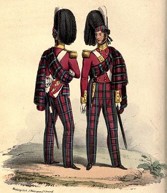 British Army during the Victorian Era - Officers of the 72nd Foot (the Duke of Albany's own Highlanders), 1840s