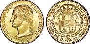80 Reales en or à l'effigie de Joseph Napoléon