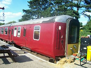 Brake Standard Open (Micro-Buffet) - Mk 2 BSOT number 9102 at the Northampton & Lamport Railway. Converted for use by a Motorman in push-pull train operation.