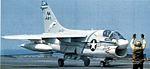 A-7E of VA-83 landing on USS Forrestal (CV-59) 1981.jpg