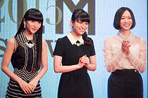 """A-chan, Nocchi & Kashiyuka (Perfume) """"We Are Perfume"""" at Opening Ceremony of the 28th Tokyo International Film Festival (22415969052).jpg"""