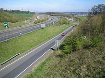 W Chester Bypass The A41 west of Hemel Hempstead , at its junction with the A414