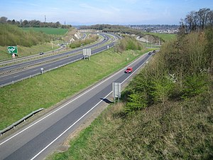 A41 road - The A41 west of Hemel Hempstead, at its junction with the A414
