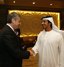 On the right, Sheikh Monsoor, whose company Manchester City Council has signed the deal with. (via wikipedia)