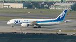 ANA Boeing 787-8 JA815A Taxiing at Taipei Songshan Airport 20141230.jpg
