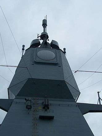 Active Phased Array Radar - Rear side of APAR on board the German Navy Sachsen class frigate Hessen.