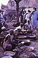 ASC Leiden - W.E.A. van Beek Collection - Dogon markets 02 - Meat snacks at Tireli market, Mali 1990.jpg