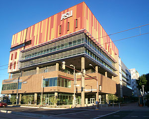 Walter Cronkite School of Journalism and Mass Communication - The Cronkite School as seen from Central Avenue