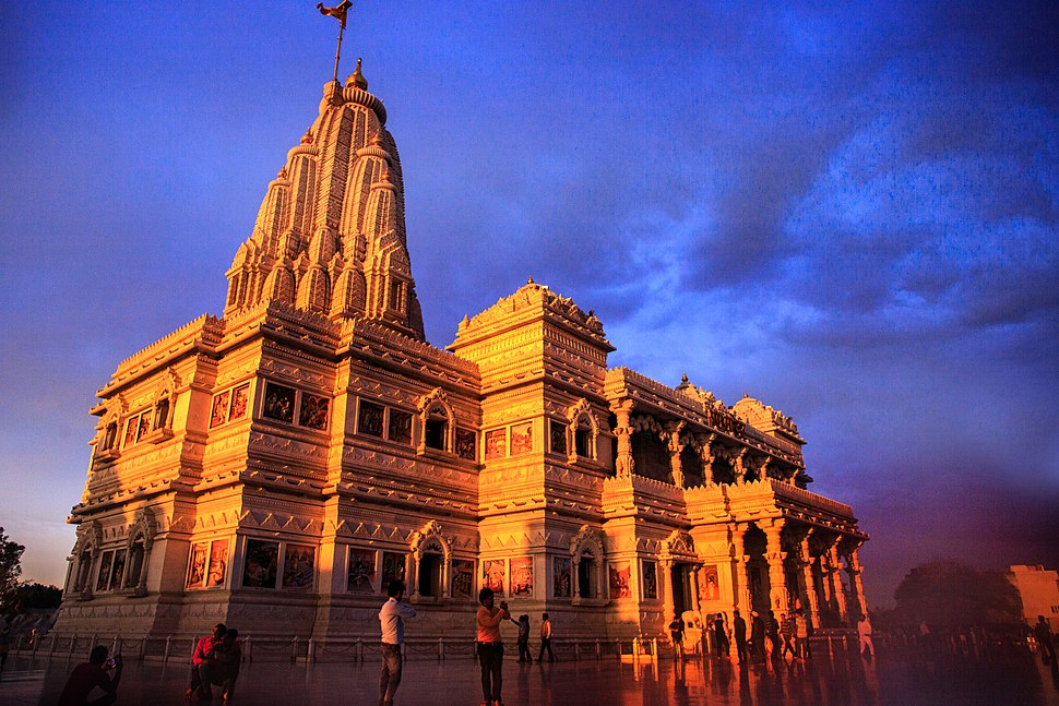 A Hindu temple Prem Mandir Love temple sights culture India