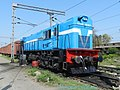 A WDM3D locomotive from Jhansi shed in a complete new livery - Flickr - Dr. Santulan Mahanta.jpg