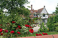 A house and red rose in Great Waltham, Essex, England 01.JPG