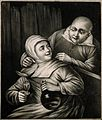 A man leans over a seated woman who holds a glass and bottle Wellcome V0019508ER.jpg