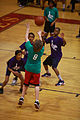 A participant in a Hoops-N-Dreams jamboree shoots during a basketball game aboard Camp Lejeune, N.C., Feb. 22, 2013 130222-M-ZB219-244.jpg