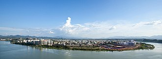 Yudu County - Image: A photo of yudu city from above
