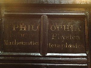 Chetham's Library - A shelf end: Philosophia