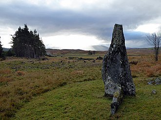 "Rǫgnvaldr Guðrøðarson - According to tradition, the stone circle Clach an Righ (""King's Stone""), near Syre, marks the site where Haraldr Maddaðarson was defeated by Rǫgnvaldr."