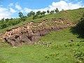 Abandoned sandstone quarries, Smardale Gill - geograph.org.uk - 1406768.jpg