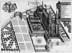 Nicasius of Rheims - Image: Abbaye Saint Nicaise de Reims dans Monasticon Gallicanum