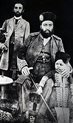 Abdur Rahman Khan - Abdur Rahman Khan in 1897 with family members